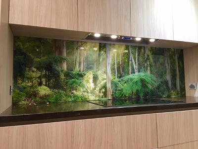 Photo Printed on Glass for Kitchen Splashback